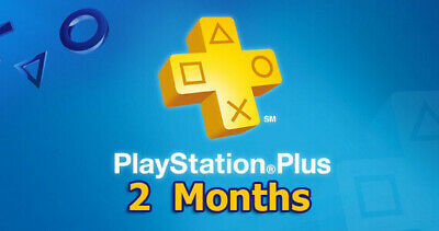PSN PLUS 2 Month PS Plus PlayStation PS4-PS3 -Vita ( NO CODE )