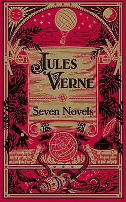 Jules Verne: Seven Novels by Jules Verne (English) Leather Book Free Shipping!