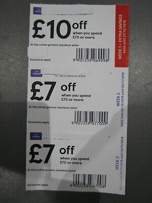 Tesco Shopping Money Off Coupons £24 In Value - Money Off Vouchers