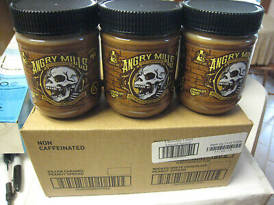 (9) Sinister Labs Angry Mills NonCaffeinated Almond Spread Chocolate Chaos 12 Oz