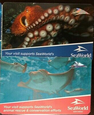 SeaWorld San Diego - 2 Tickets Adult or Child Admission FREE PRIORITY SHIPPING!