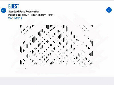 Fright Nights Thorpe Park Ticket TUESDAY 22/10/2019