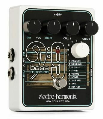 Electro-Harmonix polyphonic BASS9 Bass Machine effects pedal demo