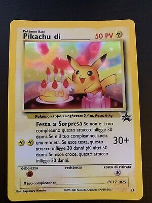 Carta Pokemon Pikachu Di N24 Wizards Black Star Promo Mint Holo! No Charizard