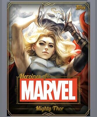Topps Marvel Collect Heroines of Marvel Gold Set + Mighty Thor Award Digital
