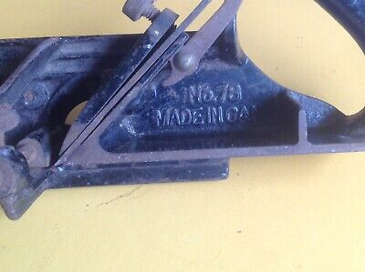 Vintage Stanley No.78 Rabbet Plane  Made In Canada Can Post