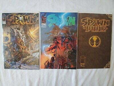 Spawn Comic Book Lot, Bible #1, Issue #25 & Issue #55, FN/VF Image Comics