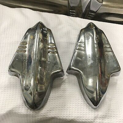 1937 Buick Bumper Guards Came Off Front Bumper .this Auction Is For The Pair
