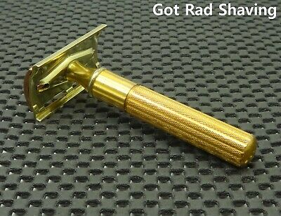 Vintage 1940's Gillette Fat Handle HEAVY TECH  DE Safety Razor Clean!