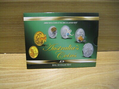 Australian Coins   Year 2004  Six Coin Uncirculated Set     Free Postage