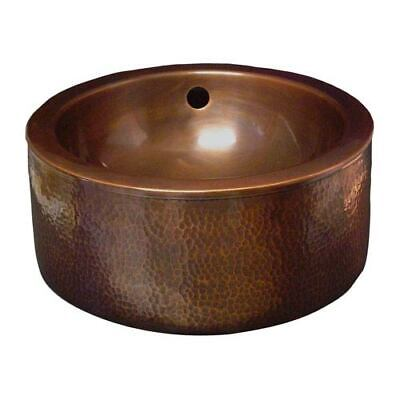Barclay Products Hammered Antique Copper 15-Inch Vessel Sink - 6851-AC