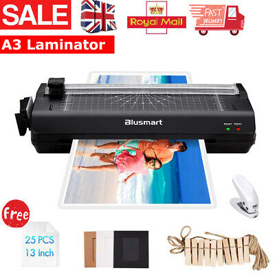 A3/A4 Laminator Machine Hot & ColdRoller and Laminating Pouches +Paper Trimmer