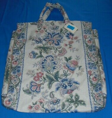 "Padded Shoulder Pillow Bag For 24""/26"" Pillow   Cream Floral.  2 Heavy Duty Zips"