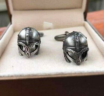 Antique Finish Viking Helmet Cufflinks