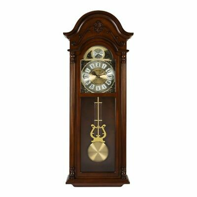 Rhythm Long Case Wooden Pendulum Clock - Westminster Chime