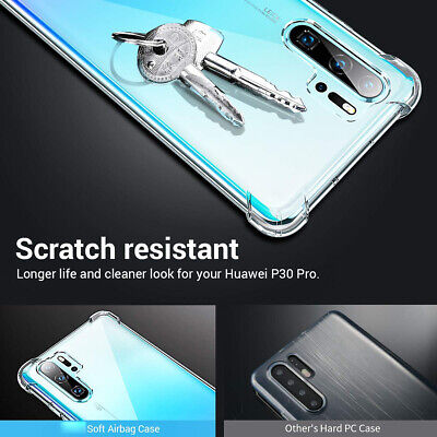 For Huawei P30 Lite P30 Pro Shockproof Reinforced Corner Tough Series Clear Gel