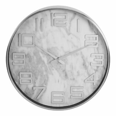 Hometime Metal Wall Clock with Marble Effect Dial