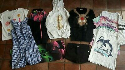 Girls Clothes Bundle Age 9 10 years Next Christmas jumper Winter M&S H&M Joules