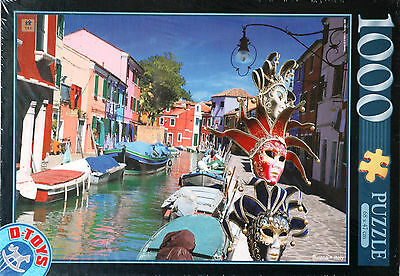 "PUZZLE ""Burano,Italie"" 1000 pièces Editions D-Toys NEUF avec CELLO* !!"