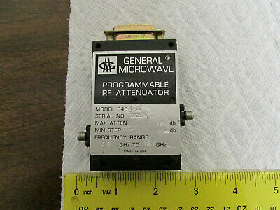 General Microwave Programmable Attenuator 6-12GHz 0-80dB Model 345