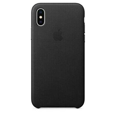 Orginal Apple Leather Leder Case Cover MQTD2ZM/A für iPhone X XS - Schwarz