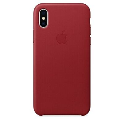 Orginal Apple Leather Leder Case Cover Hülle MQTE2ZM/A für iPhone X XS Rot