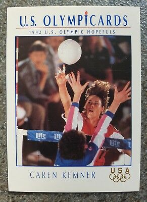 US Olymp Cards Caren Kemner OS 1992 Nr. 93 Trading Card
