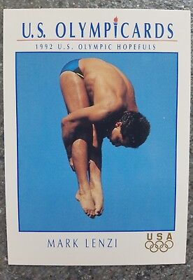 US Olymp Cards Mark Lenzi OS 1992 Nr. 36 Trading Card