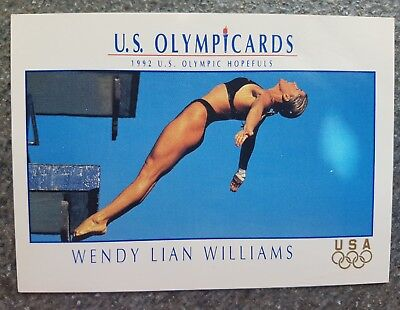 US Olymp Cards Wendy Lian Williams OS 1992 Nr. 38 Trading Card