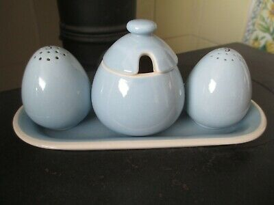 Royal Copenhagen Aluminia Porcelain Denmark Pottery - Sonja cruet set on base