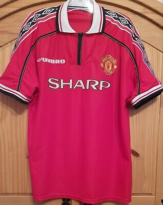Manchester United 1998 1999 2000 Treble Winning Home Original Football Shirt XL