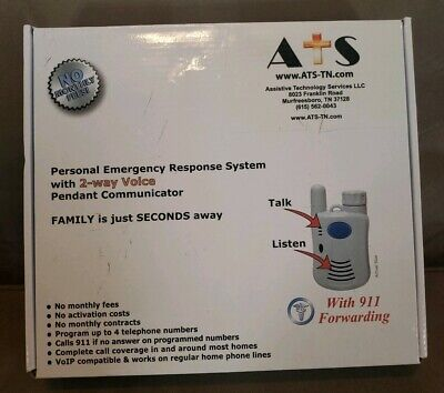 Personal Emergency Response System with 2 Way Voice Pendant Communicator by ATS