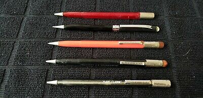 Lot Of 5 Vintage Scripto Mechanical Pencils