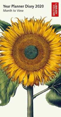Botanical Illustrations 2020 Year Planner – Sunflower Month To View Diary