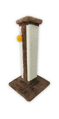 Cat Tree Tower Scratching Pole Kitten Interactive Play Toys Plush Sisal Brown
