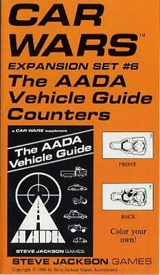 SJG Car Wars Expansion Set #6 - AADA Vehicle Guide Counters #1 Zip NM
