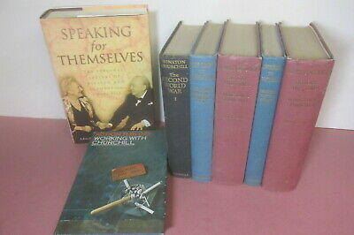 Winston Churchill themed book set x 14 titles, history, World War 2 etc