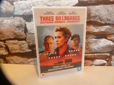 Three Billboards Outside Ebbing, Missouri Dvd - Uk, Fast/Free Posting.