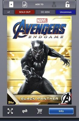 2019 WHATEVER IT TAKES BLACK PANTHER RONIN  Topps Marvel Collect Digital Card