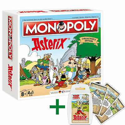 Monopoly Asterix und Obelix limitierte Collector's Edition + Top Trumps Quartett