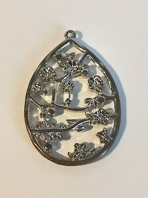 Lovely Silver Tone Floral Pendant - Metal Detecting Find