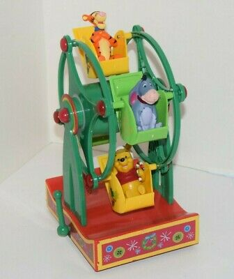 Disney Winnie the Pooh Musical Christmas Holiday Ferris Wheel Eeyore Tigger
