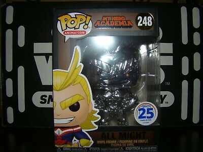 Funko Pop Mha Chrome Silver All Might Funimation 2019 Exclusive-Vhtf