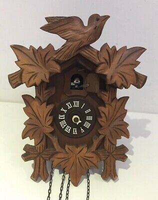 Antique Vintage Black Forest Cuckoo Clock Spares Parts Switzerland Swiss R11
