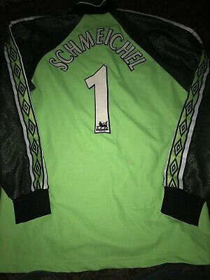 Manchester United Goalkeeper No 1 Shirt Goalie top Jersey 1998/99 Schmeichel M
