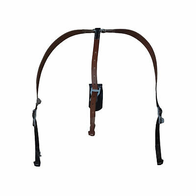 WW2 German Cavalry Y straps Black Leather - Reproduction PU295