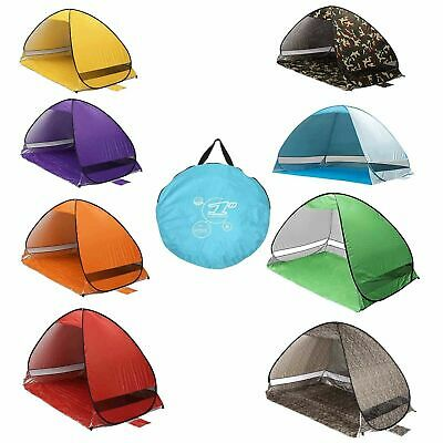 Pop Up Beach Tent Canopy UV Camping Fishing Mesh Sun Shade Shelter 2 Persons