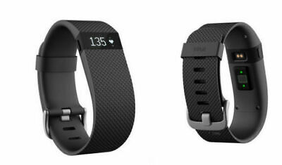 Fitbit Charge HR Heart Rate Fitness Activity Sleep Tracker Wristband Black Color