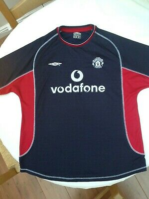 Manchester United Football Shirt ~ Adult Xl ~ Away 3Rd Kit ~ Umbro ~ 2000/2001