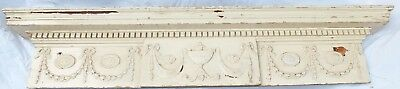 Antique Georgian Large Carved Solid Wood Door Panel Pediment Frieze Cornice C